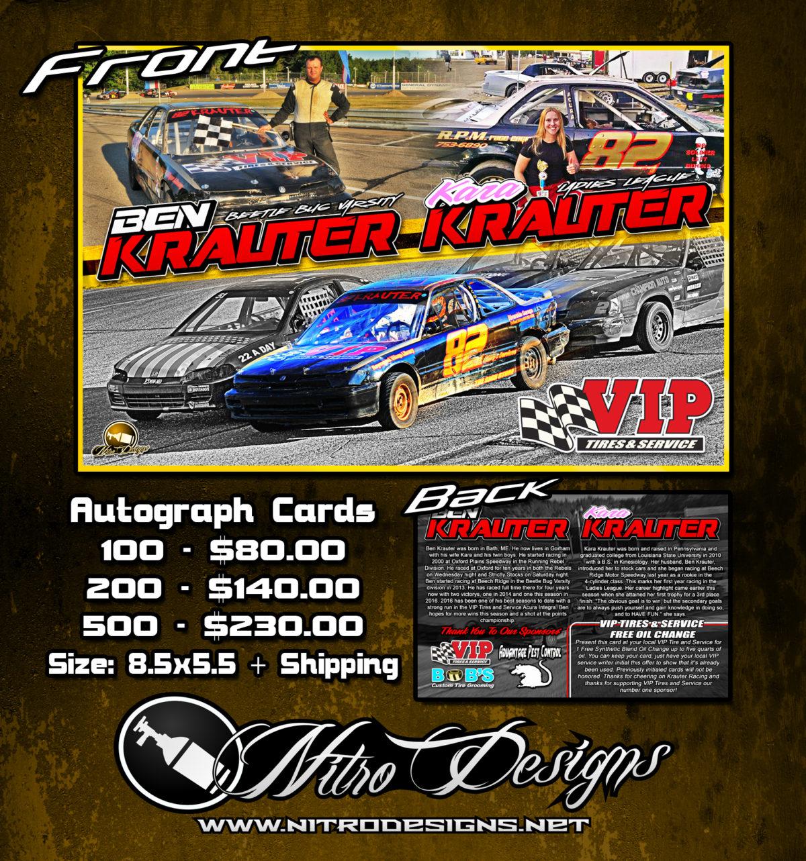 Ben Krauter Racing/Motorsports Autograph Cards