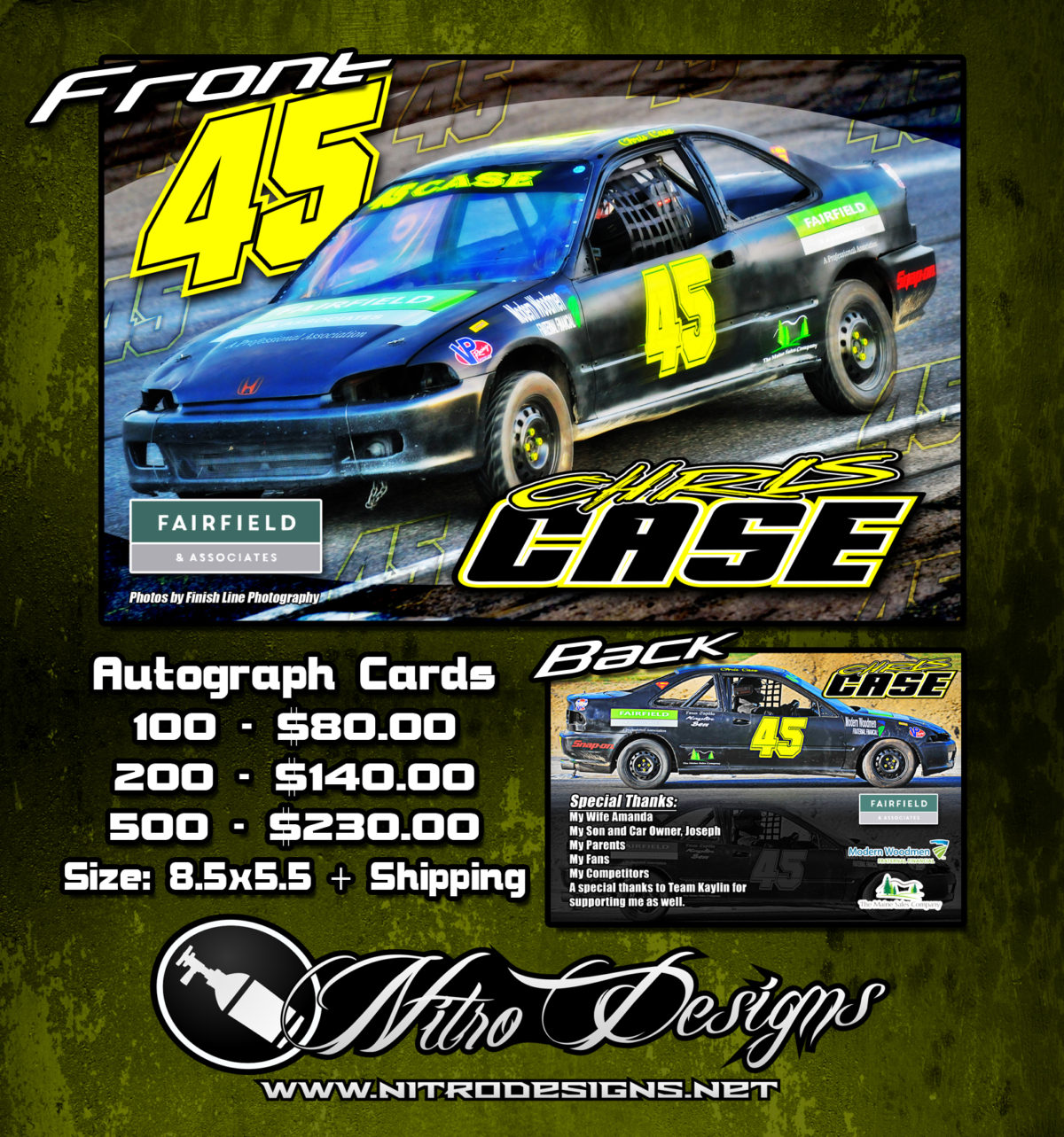 Chris Case Autograph Cards