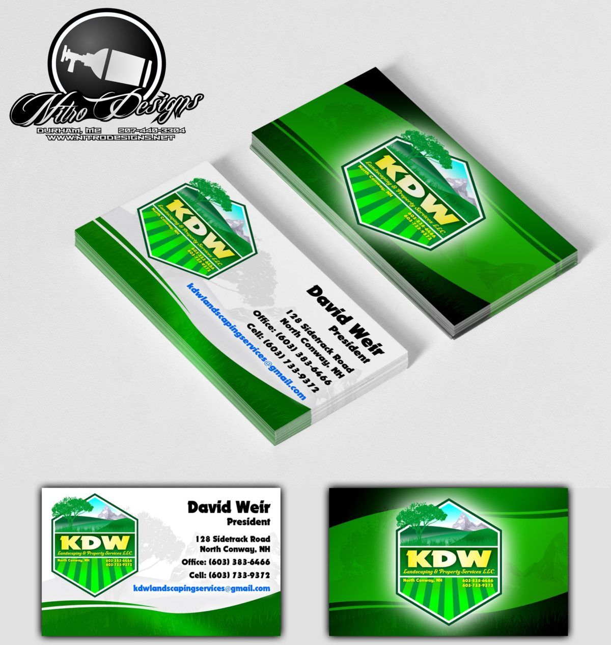 kdw landscaping business cards - Landscaping Business Cards