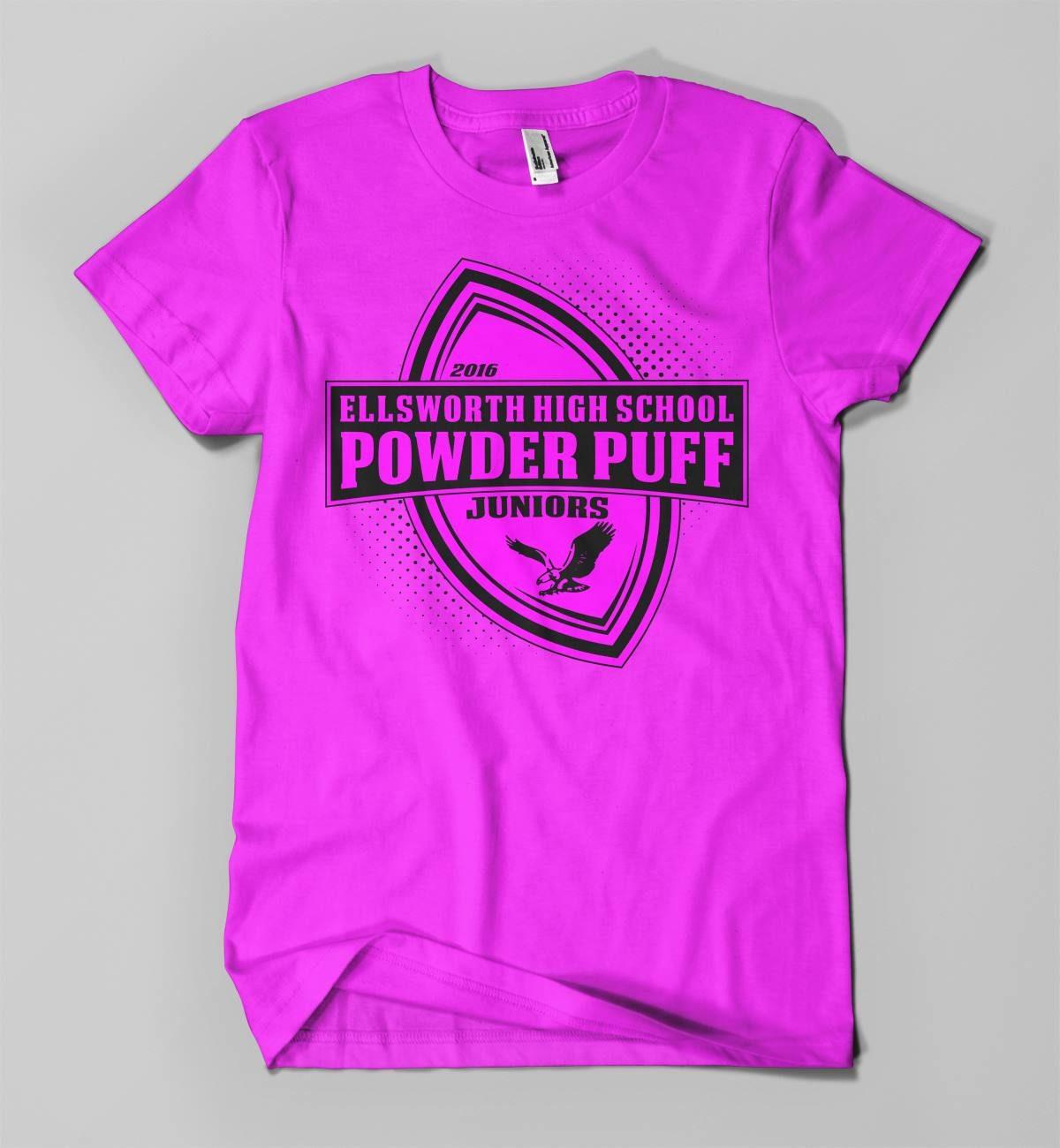 Shirt design services - Ellsworth Powderpuff Game Shirt Design Nitro Designs