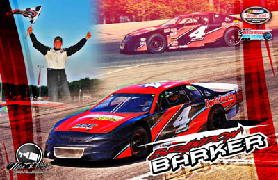 Brandon Barker Racing Hero/Autograph Cards.