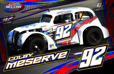 Colby Meserve Racing Hero/Autograph Cards.