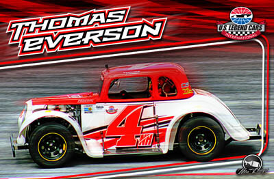 Thomas Everson Legends Car Racing Hero/Autograph Cards.