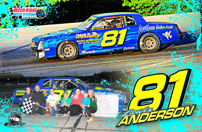 Lewis Anderson Racing Hero/Autograph Cards