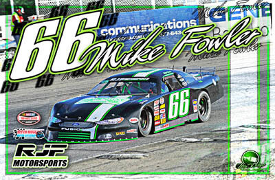 Mike Fowler Racing Hero/Autograph Cards