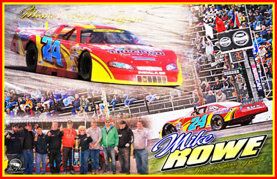 Mike Rowe Racing Hero/Autograph Cards