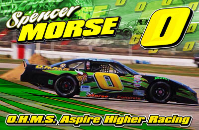 Spencer Morse Racing Hero/Autograph Cards