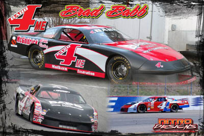 Brad Babb Racing Hero/Autograph Cards.
