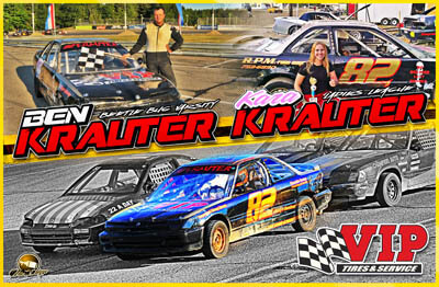 Ben Krauter Racing Hero/Autograph Cards.