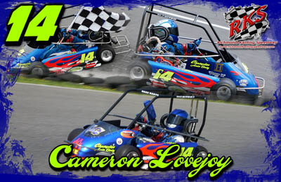 Cameron Lovejoy Racing Hero/Autograph Cards