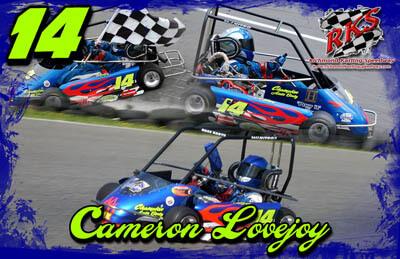 Cameron Lovejoy Racing Hero/Autograph Cards
