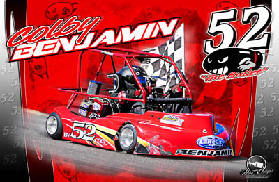 Colby Benjamin Racing Hero/Autograph Cards.