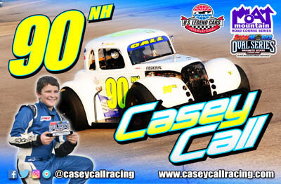 Casey Call Legends Car Racing Hero/Autograph Cards.