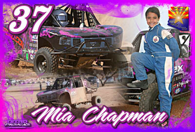 Mia Chapman Off Road Racing Hero/Autograph Cards.