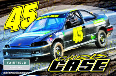 Chris Case Racing Hero/Autograph Cards.