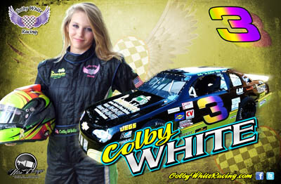 Colby White Racing Hero/Autograph Cards