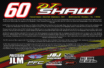 DJ Shaw Racing Hero/Autograph Cards