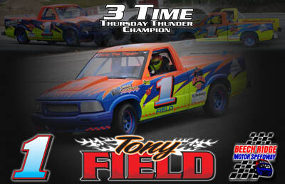 Tony Field Racing Hero/Autograph Cards.