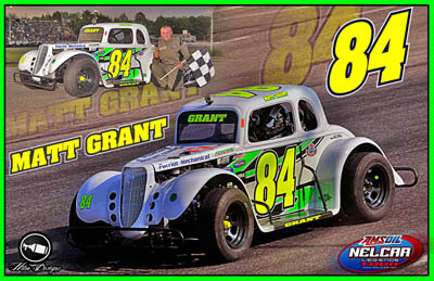 Matt Grant Legends Car Racing Hero/Autograph Cards
