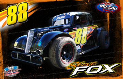 Steve Fox Legends Car Racing Hero/Autograph Cards