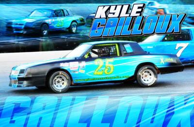 Kyle Gailloux Racing Hero/Autograph Cards