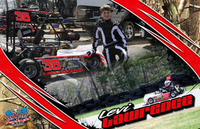 Levi Lawrence Racing Hero/Autograph Cards