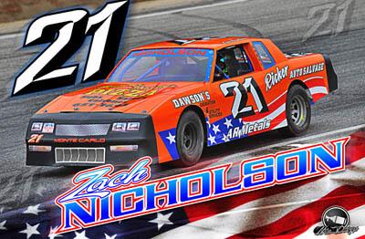 Zach Nicholson Racing Hero/Autograph Cards