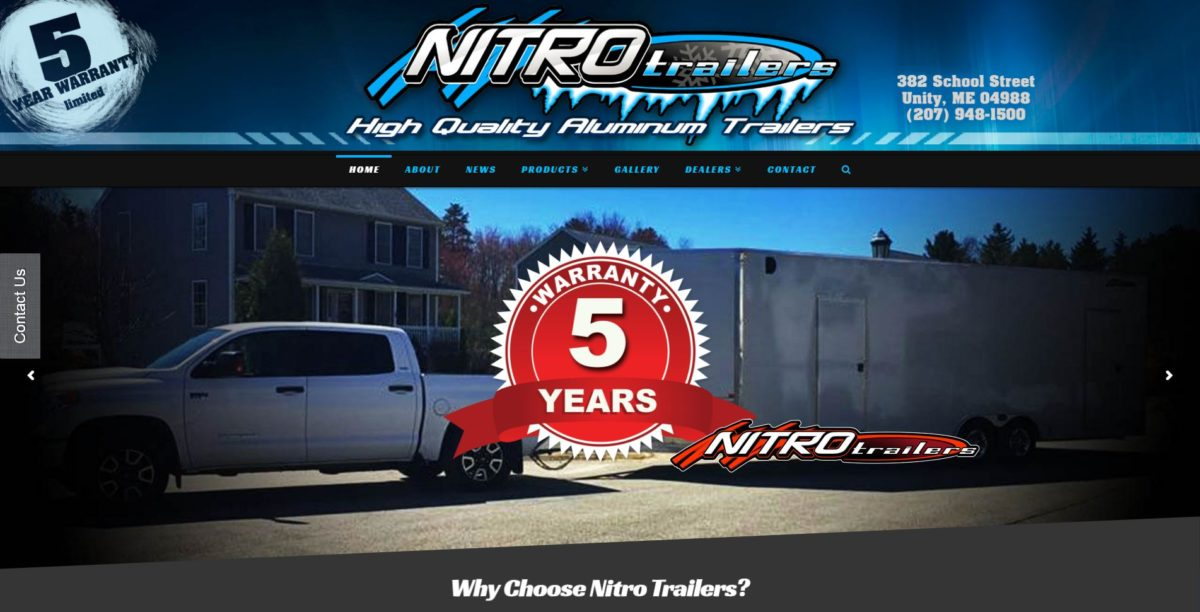 Nitro Trailers Website