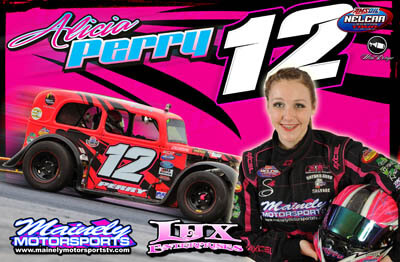 Alicia Perry Racing Hero/Autograph Cards.