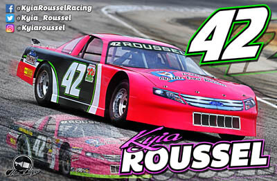 Kyia Roussel Racing Hero/Autograph Cards
