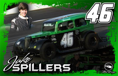 Jake Spillers Racing Hero/Autograph Cards