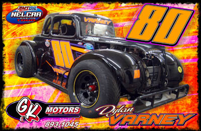 Dylan Varney Racing Hero/Autograph Cards