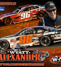 Wyatt Alexander Racing Hero/Autograph Cards