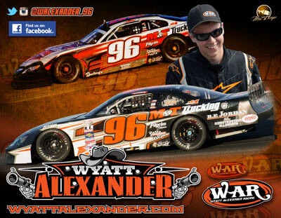Wyatt Alexander Super Late Model Racing Hero Cards