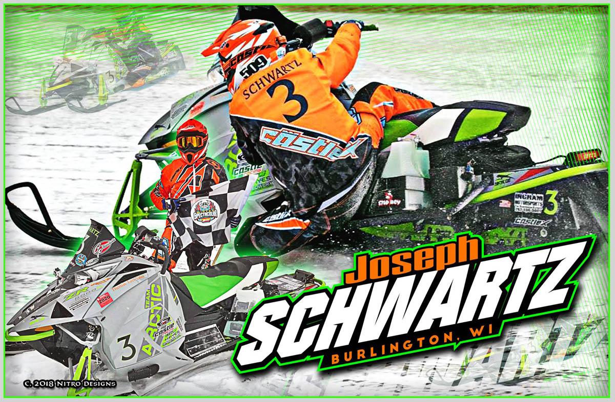 Joseph Schwartz Snowmobile Racing Hero Cards