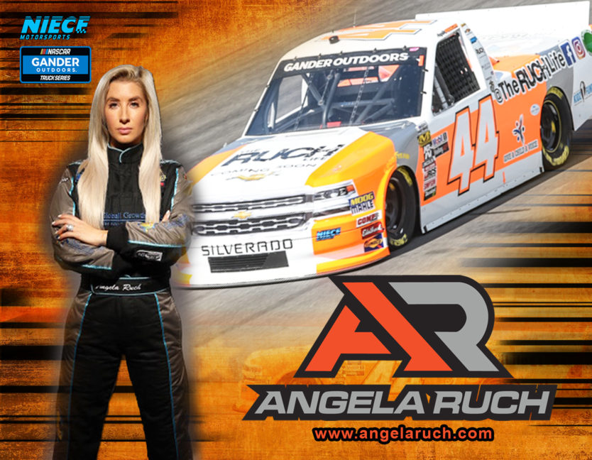 Angela Ruch NASCAR Truck Series Hero Cards