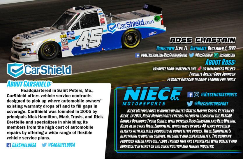 Ross Chastain NASCAR Truck Series Hero Cards Back